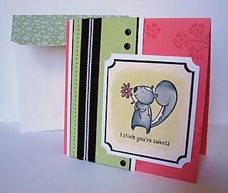 Pun Fun Skunk Card OHS