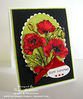 Flourishes Poppy - OHS