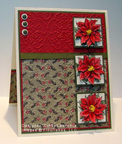 Flourishes Poinsettia and Boxwood 3 - OHS