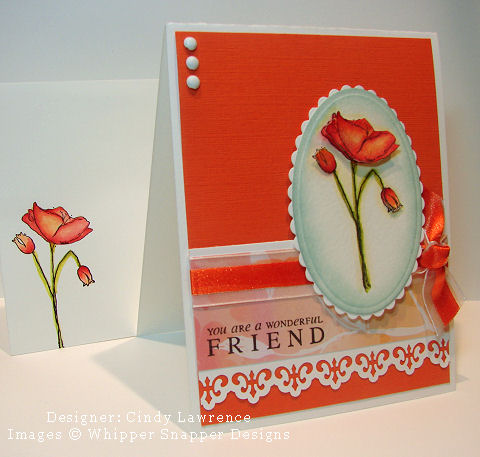 Stamp NE Watercolor Class Tangerine Card - OHS