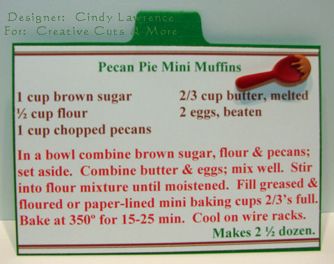 CC&M Apron Recipe Album Pecan Pie Mini Muffin Recipe