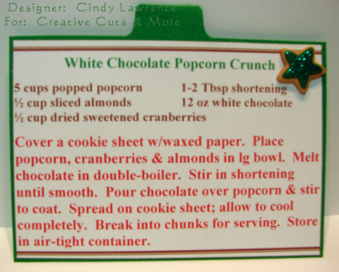 CC&M Apron Recipe Album Popcorn Recipe