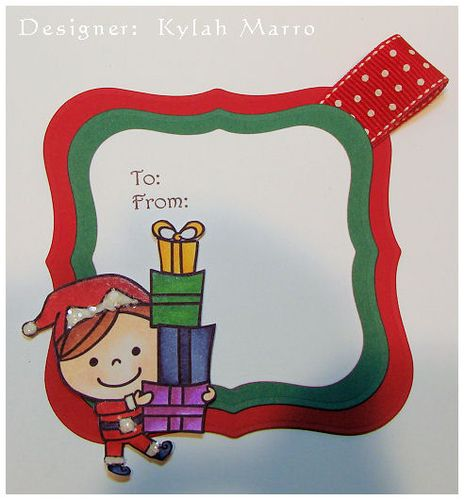 Boy with Presents Tag - Kylah