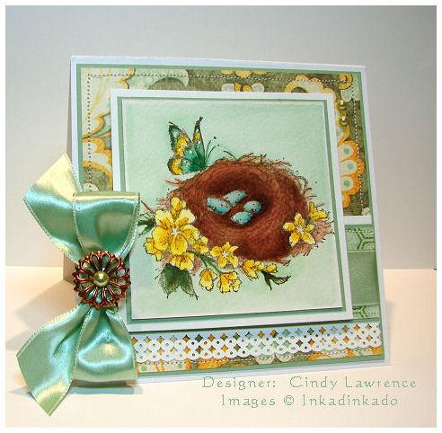 Bird nest - inkadinkado - ohs