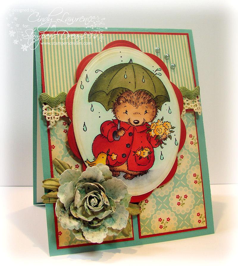 Hedgehog with Umbrella 1 - OHS
