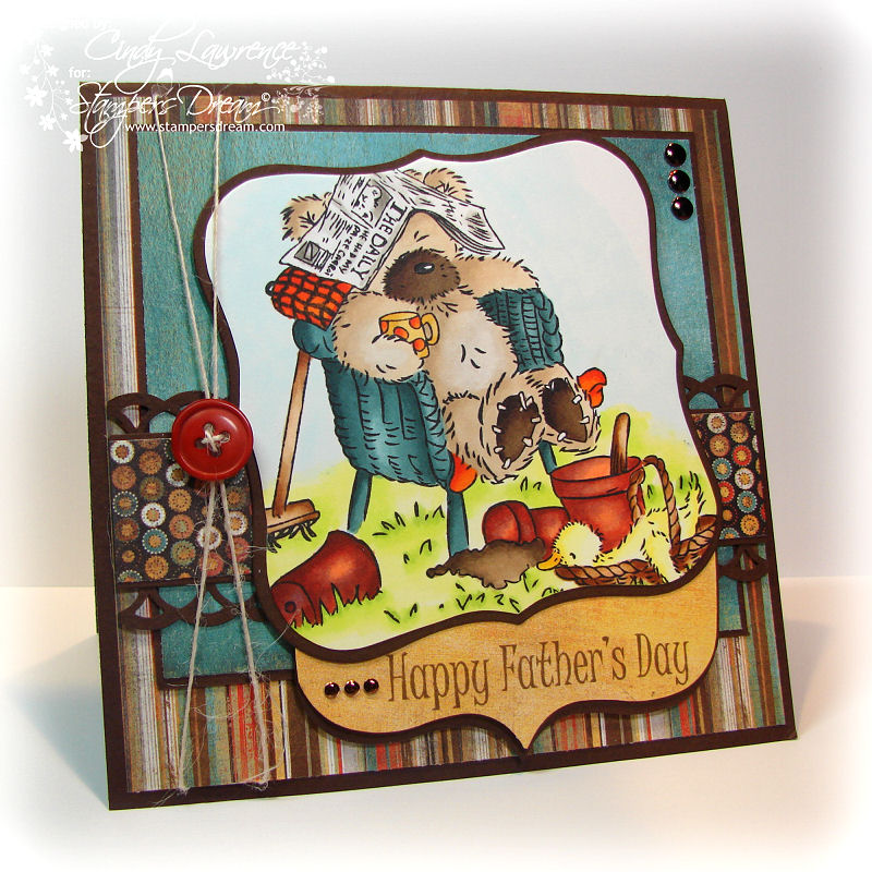 Crafters Companion Fathers Day Popcorn Bear 1 - OHS