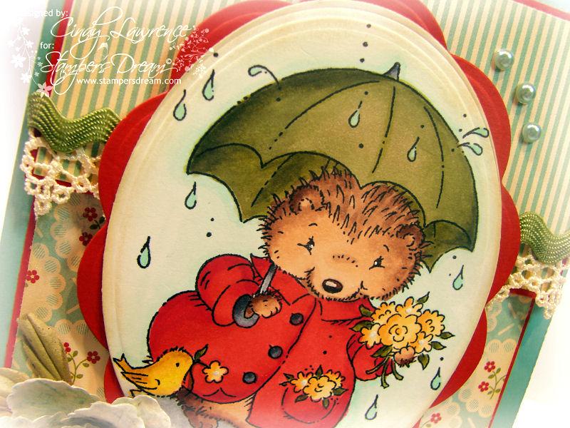 Hedgehog with Umbrella 1 Close-Up - OHS
