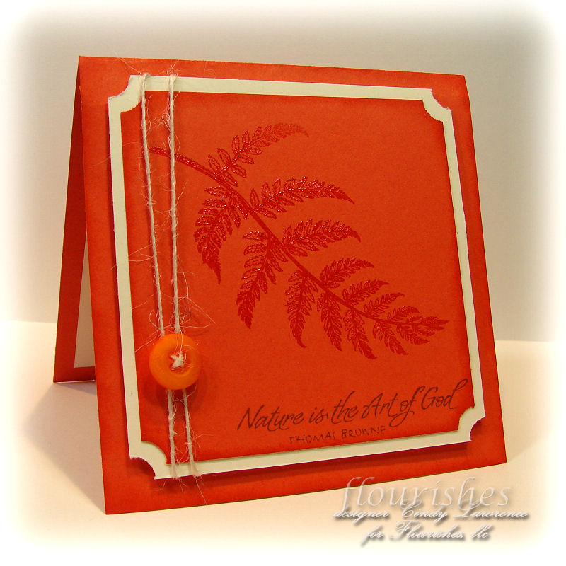 Ferns & Fiddles 2 Tangerine - OHS