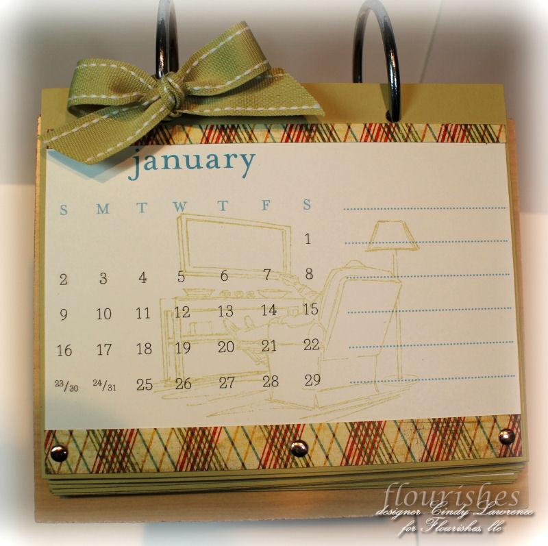 2011 Calendar for Jim - January Close-Up - OHS