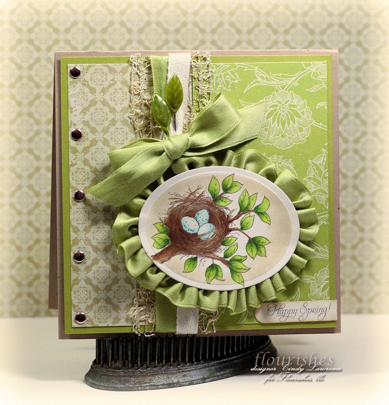 Украшение цветок на открытке 774
