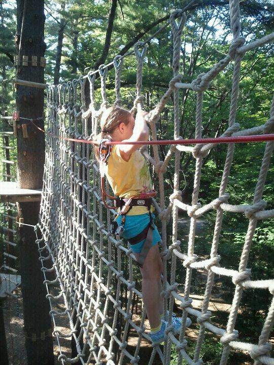 Gunstock Zipline Adventure Course 4 - OHS