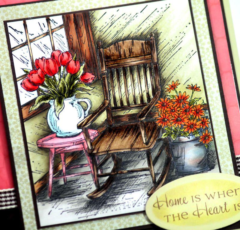 Northwoods Stamps Spring Porch Rocker 1 Close Up - OHS