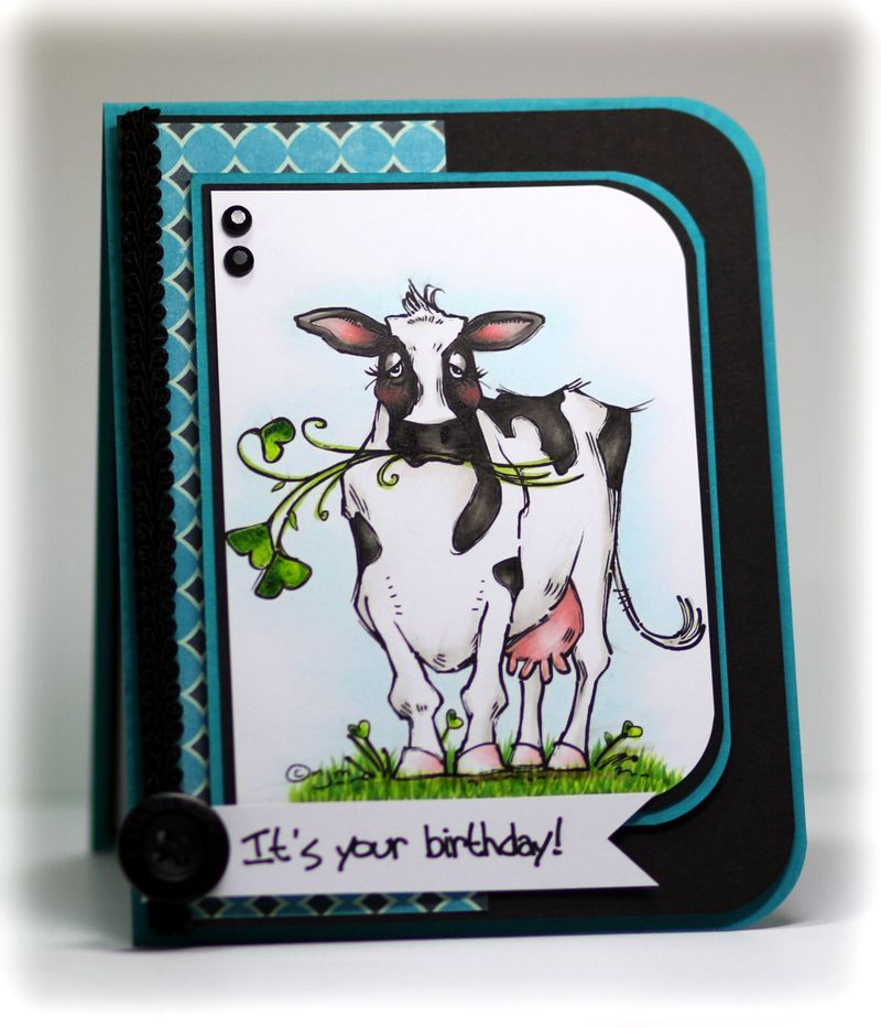 Cow with Green Heart Clover 1 - OHS
