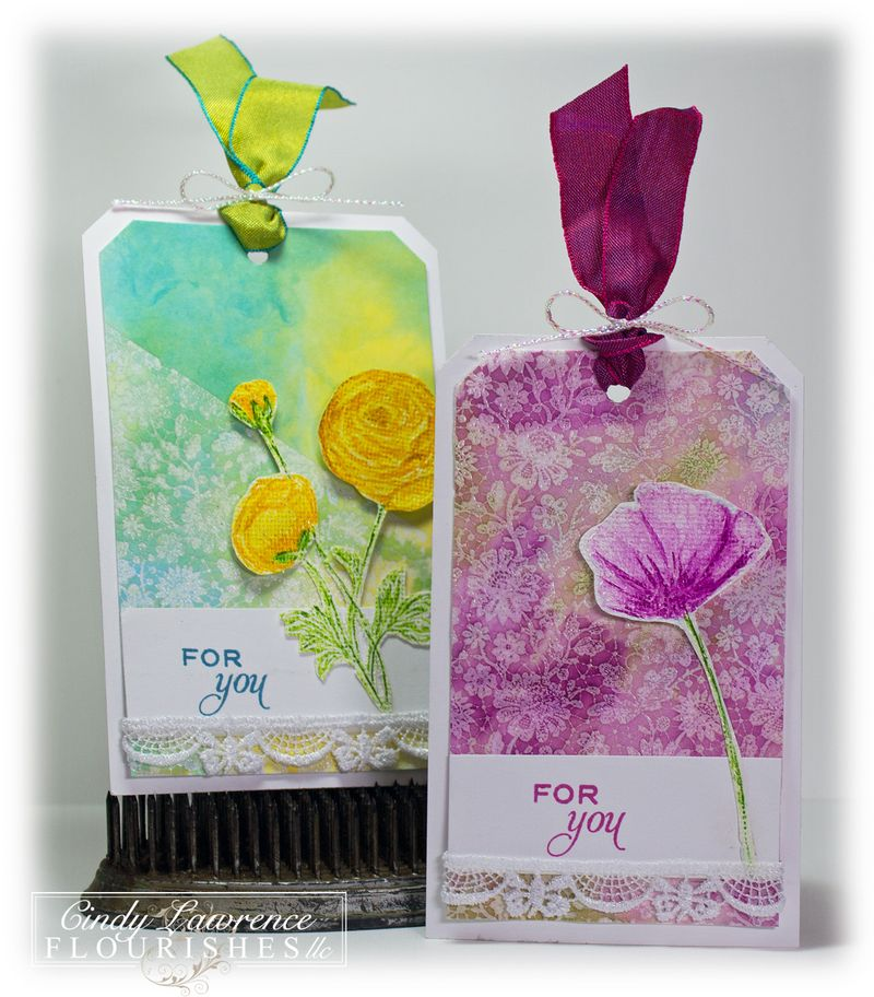 Poppies &Sweet Nature Tags - OHS