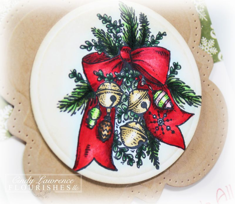 Classic Christmas Tag Close-Up - OHS