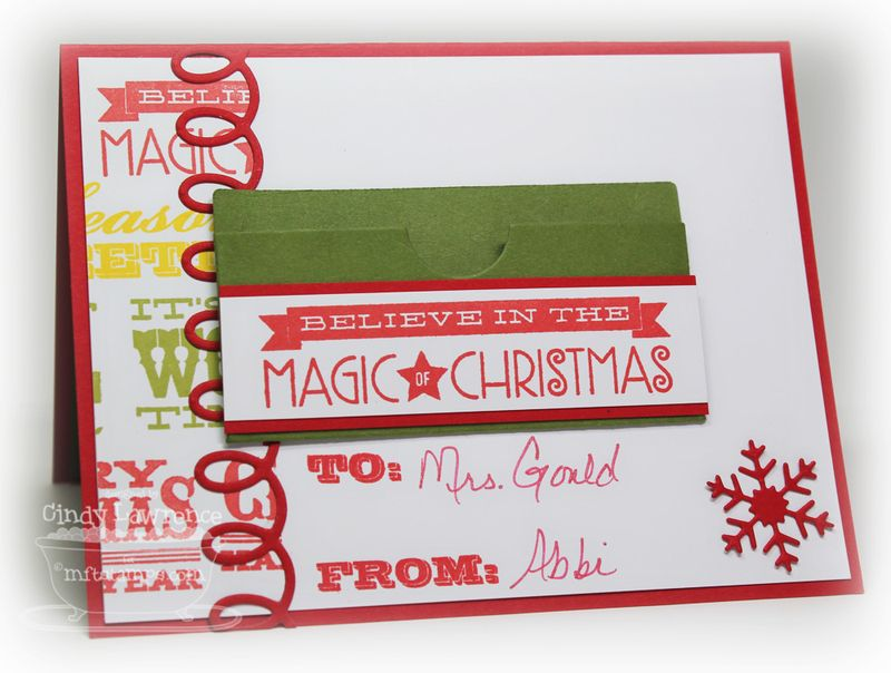 Christmas Gift Card Holder 3 Inside - OHS