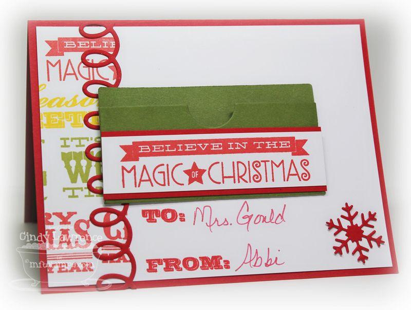 Christmas Gift Card Holder 3 Inside - OHS