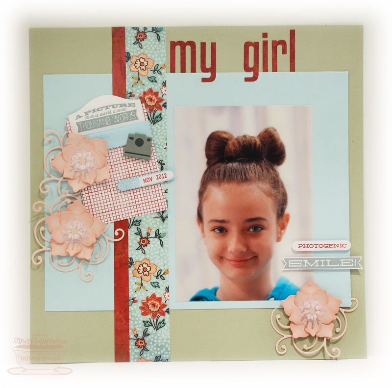 MFT Dec Release Day 2 Scrapbook Page