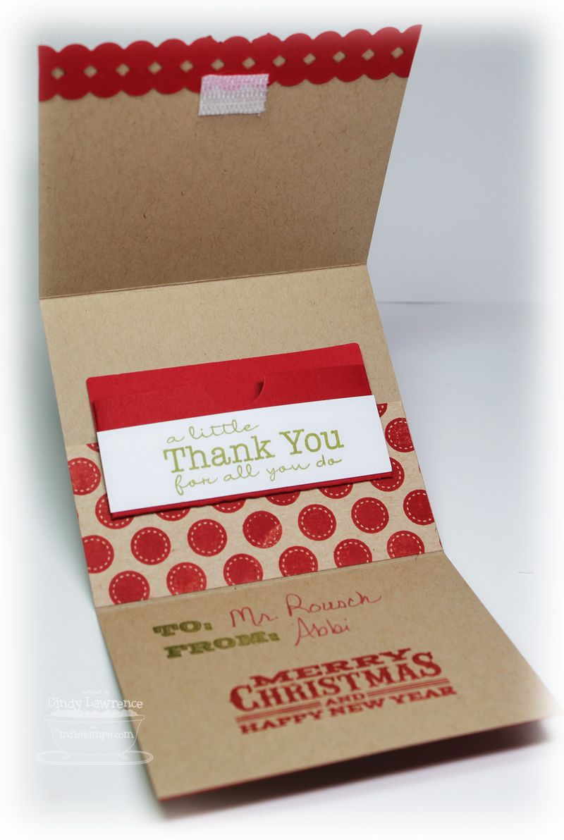 Christmas Gift Card Holder 2 Close-Up - OHS