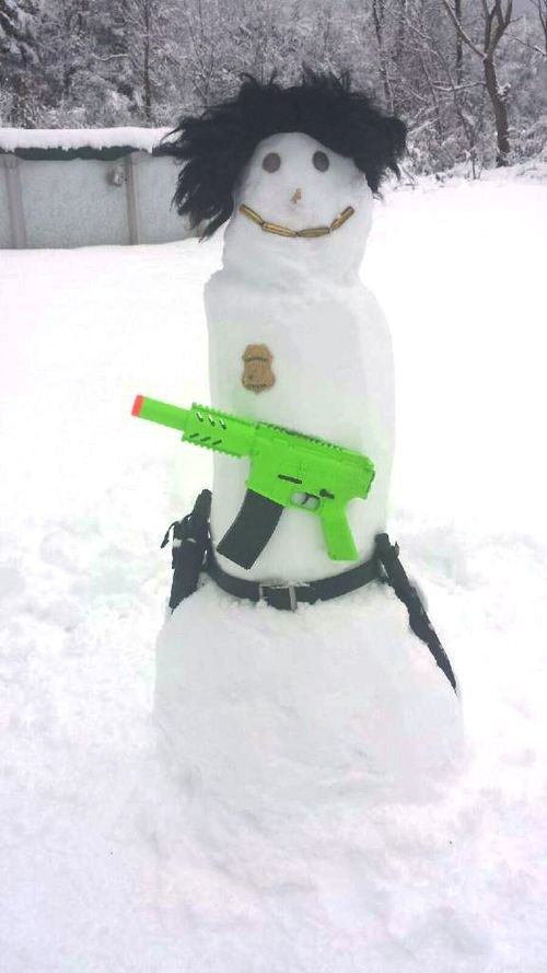 Nick's Thanksgiving Snowman